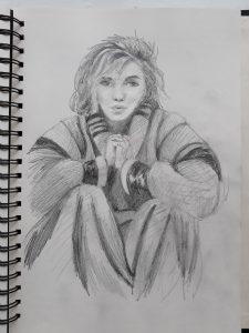 Pencil Sketch of Marilyn Munro